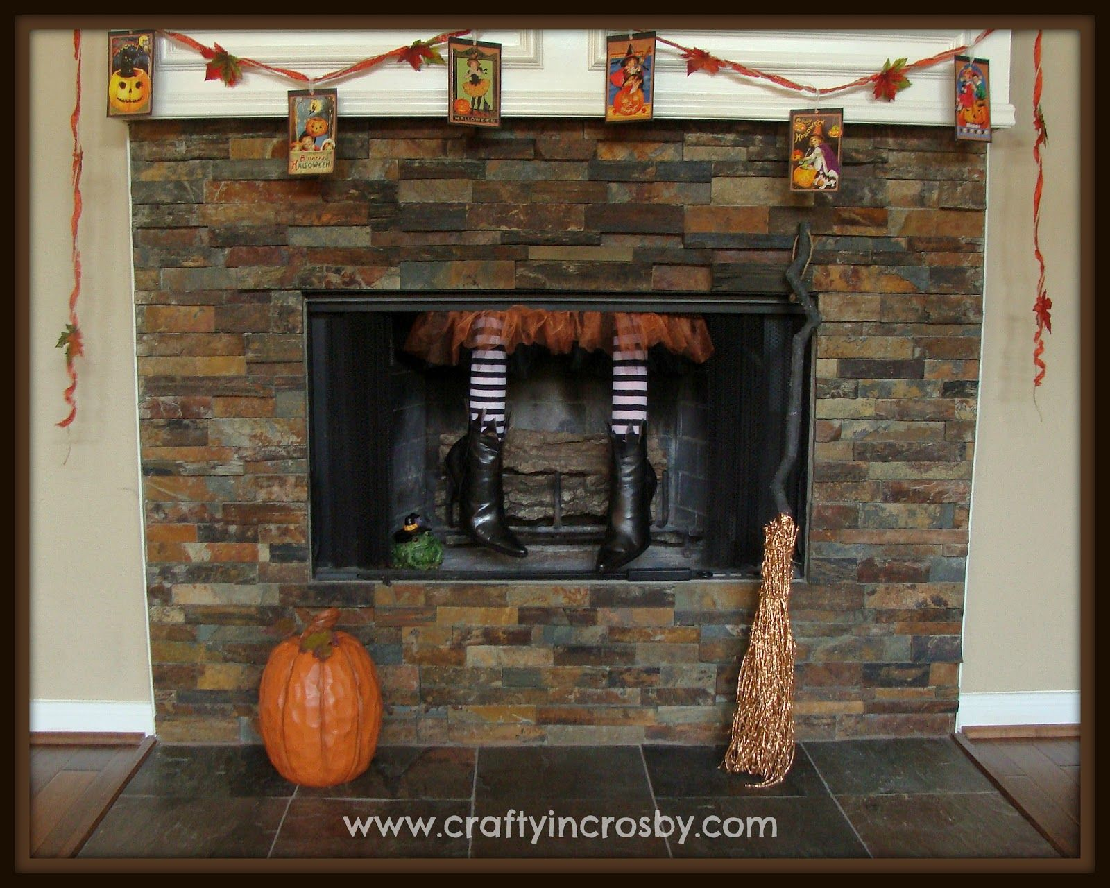 This is an inside joke for my sisters!  :)  Crafty In Crosby: Fireplace Witch