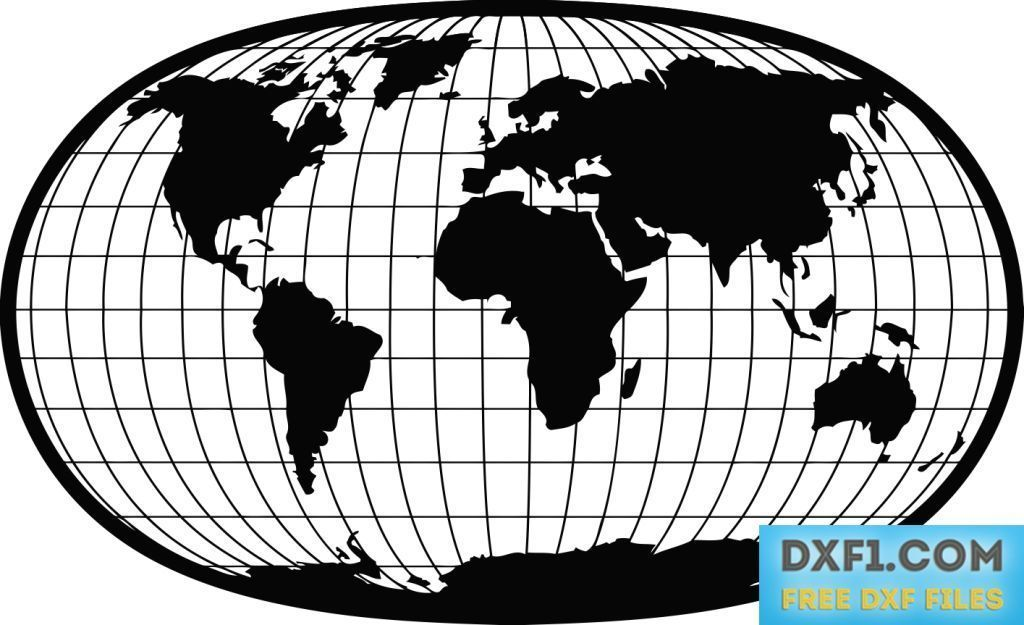 World map with parallel and meridians vector dxf free map of the world map with parallel and meridians vector dxf free map of the world in an gumiabroncs Choice Image