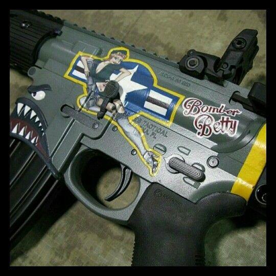 Bomber Theme Cerakote Pinterest Guns Ar15 And Weapons