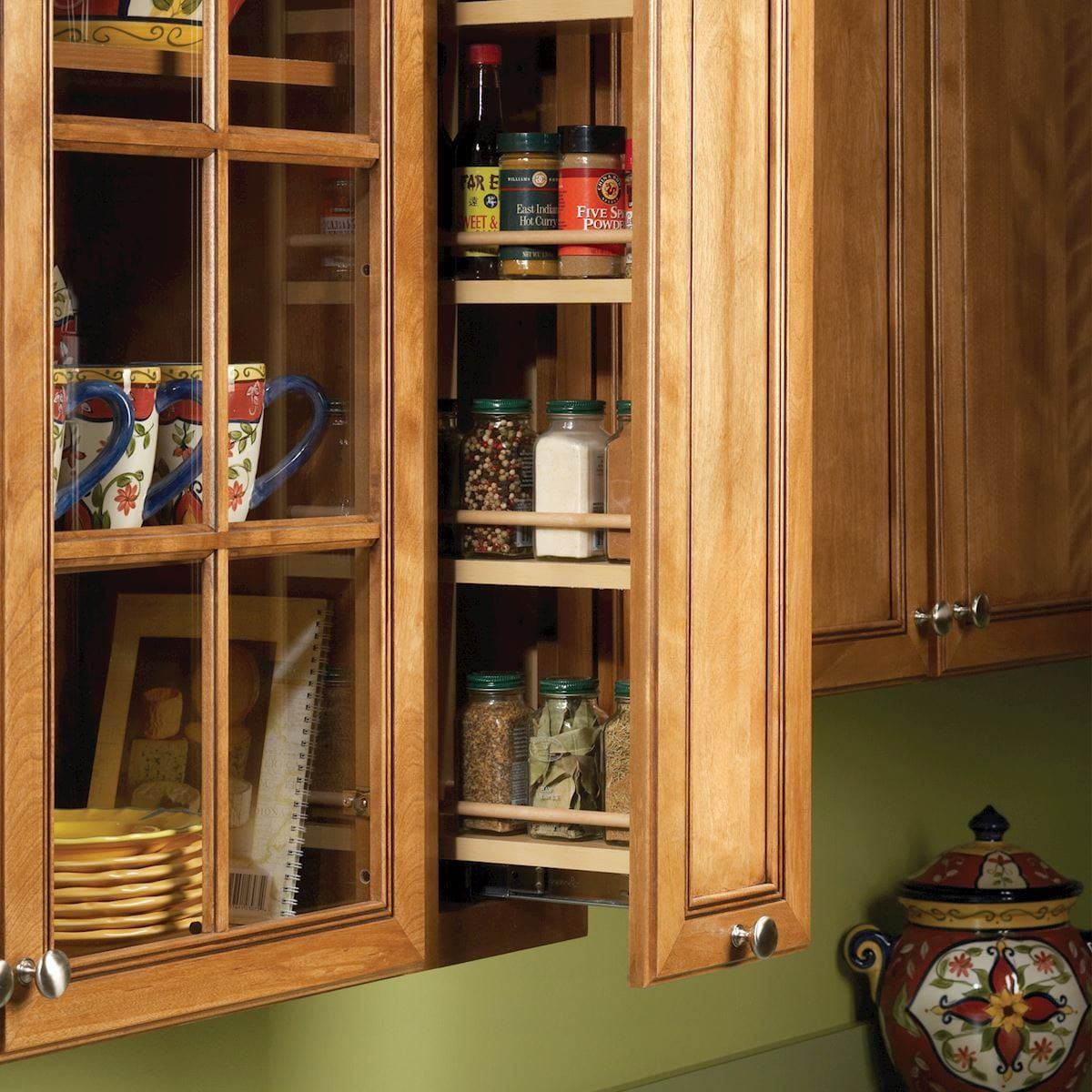 Pull out spice rack in 2020 | Kitchen cabinet accessories ...