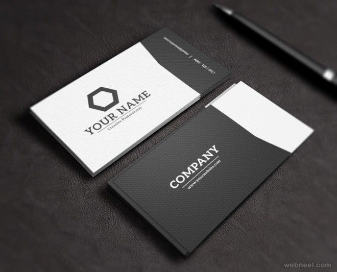 Laptop Folded Business Card Template By Zeppelin Graphics On
