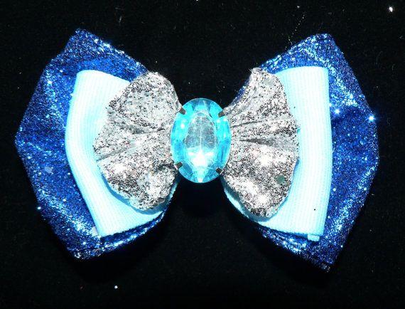 Sparkly pink blue aqua silver headband hair by SweetandCuteBows, $8.50