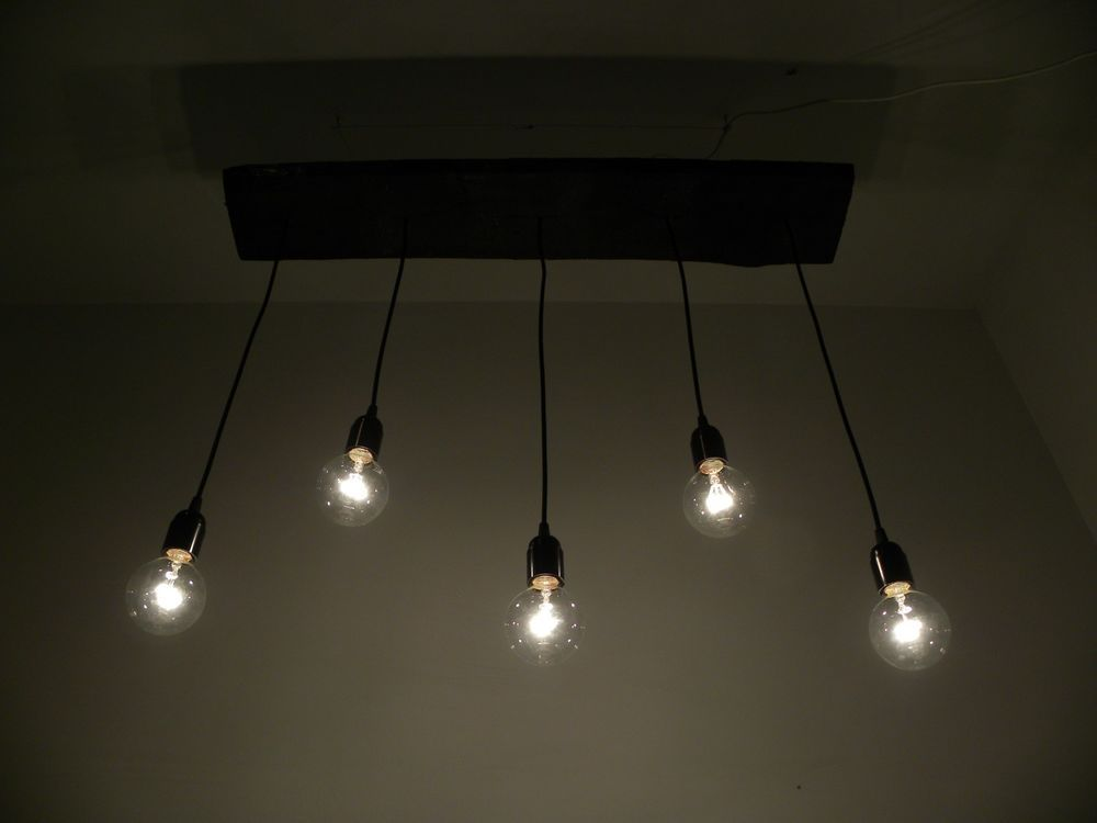 5 Bare Bulb Pendant Light Edison