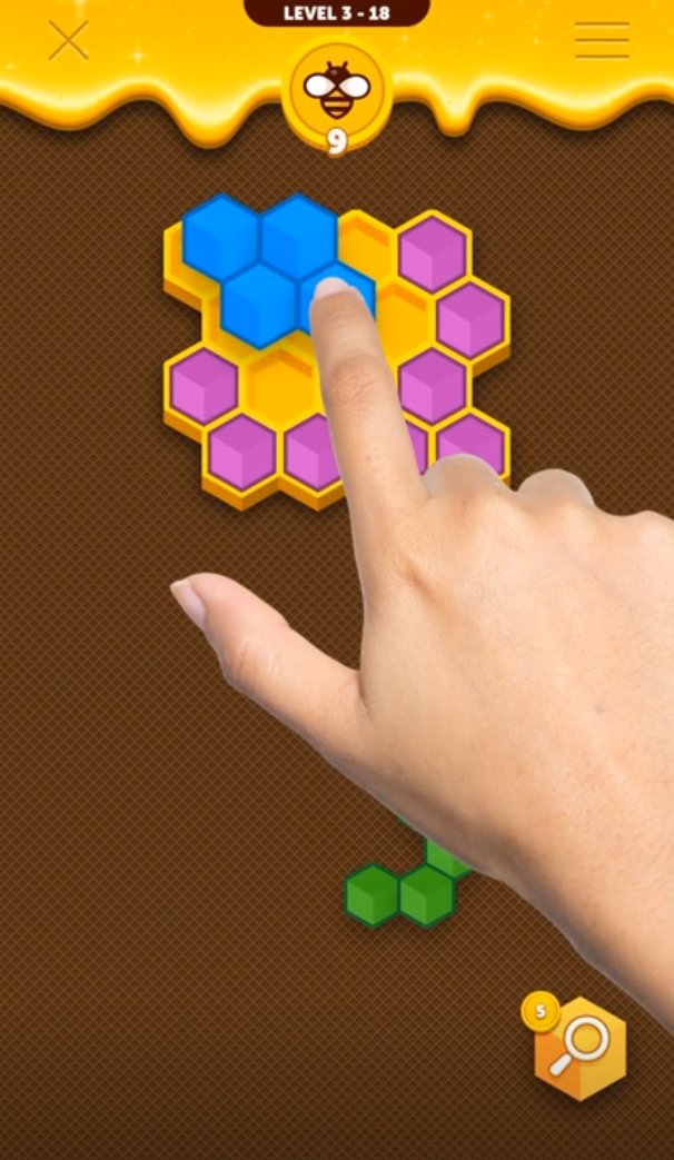 Help the bees store their honey!! The tasty new hexablock