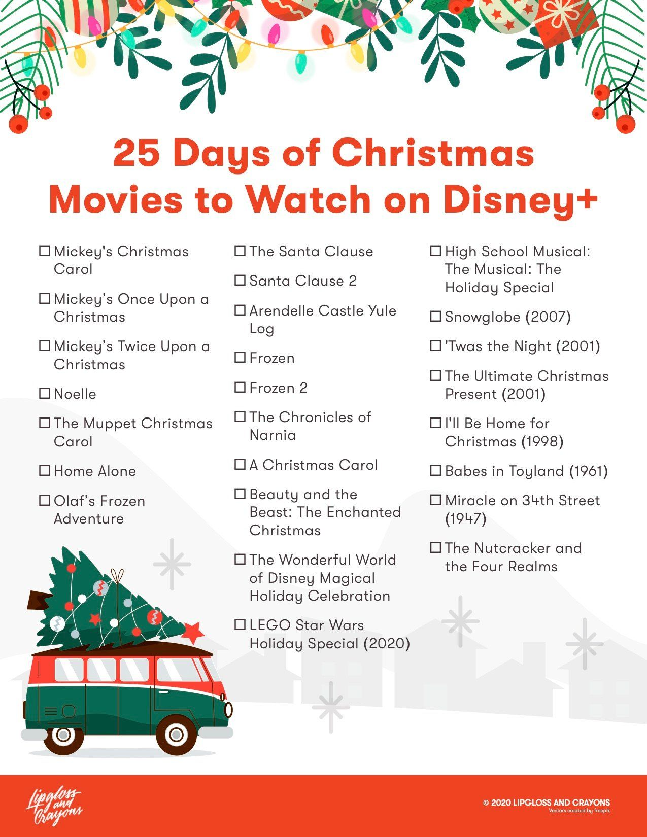 25 Days Of Christmas Disney The Ultimate Watch Guide Lipgloss And Crayons In 2020 Mickey Christmas Disney Christmas 25 Days Of Christmas