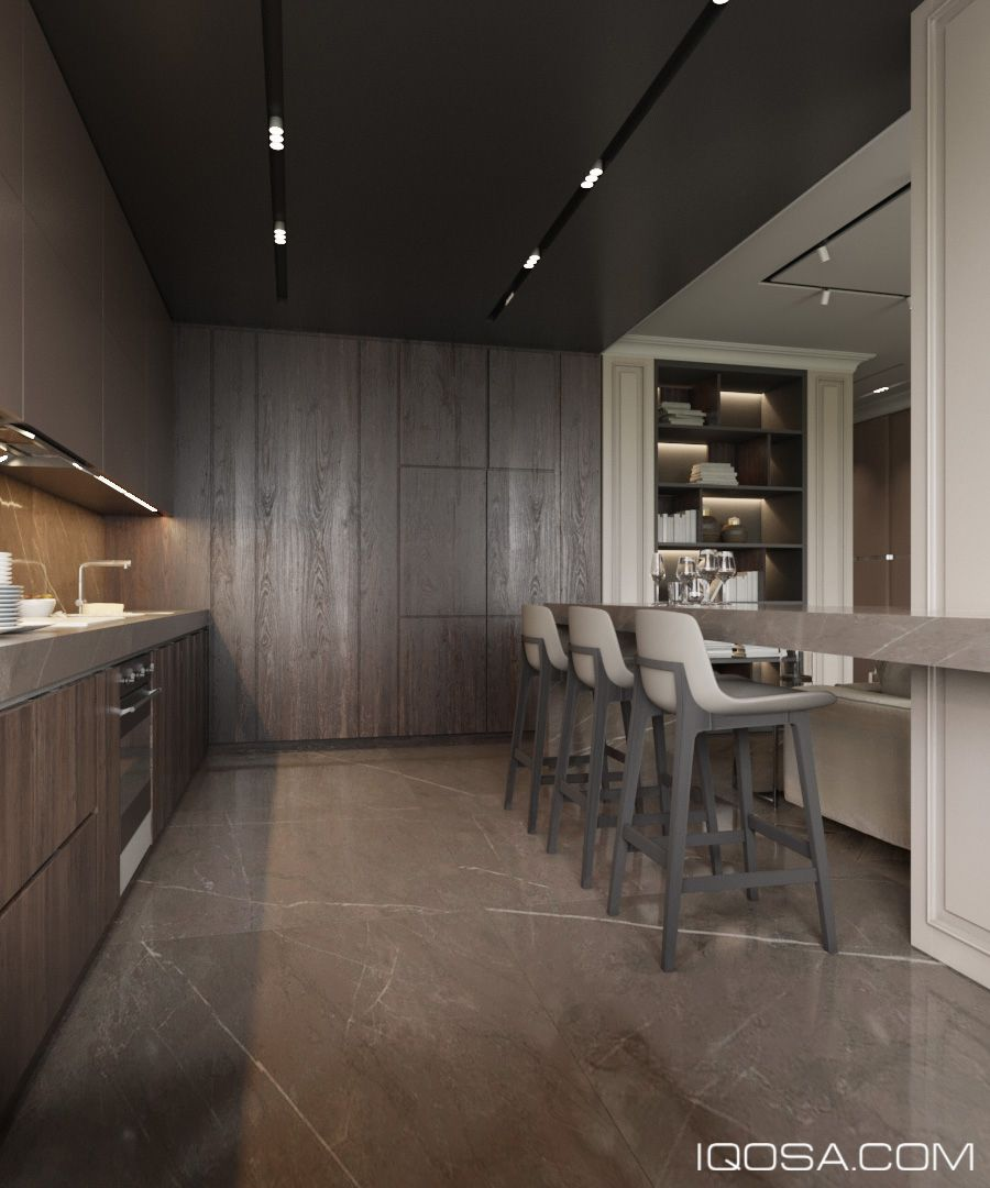 Royal Kitchen Design: Apartment In Royal Tower On Behance