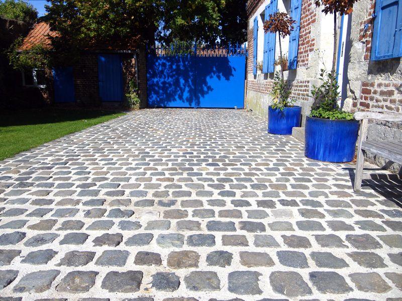 Pose de pavé, revêtement sol, aménagement terrasse, maçonnerie - Pose De Carrelage Exterieur