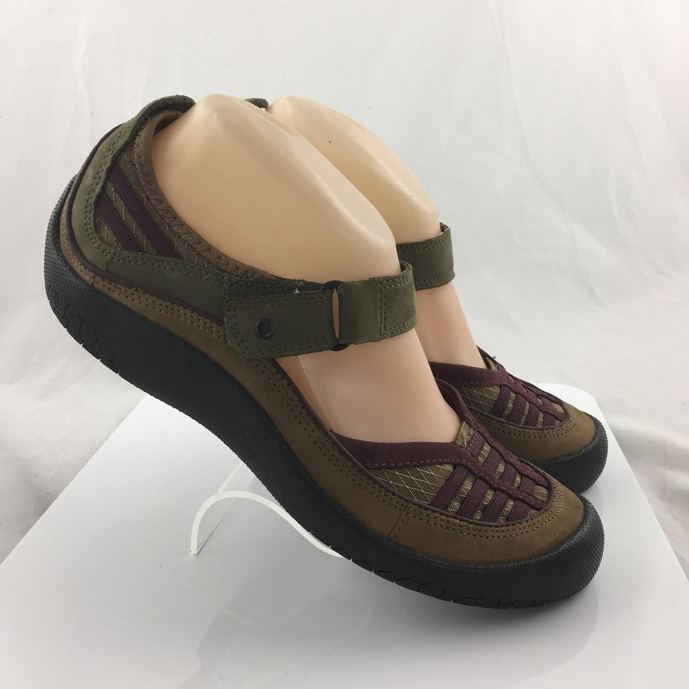 f830b8a86d3 Clarks Privo Mary Janes flats hook   loop Shoes brown Womens Size 8.5 M  work  Clarks  MaryJanes  Casual