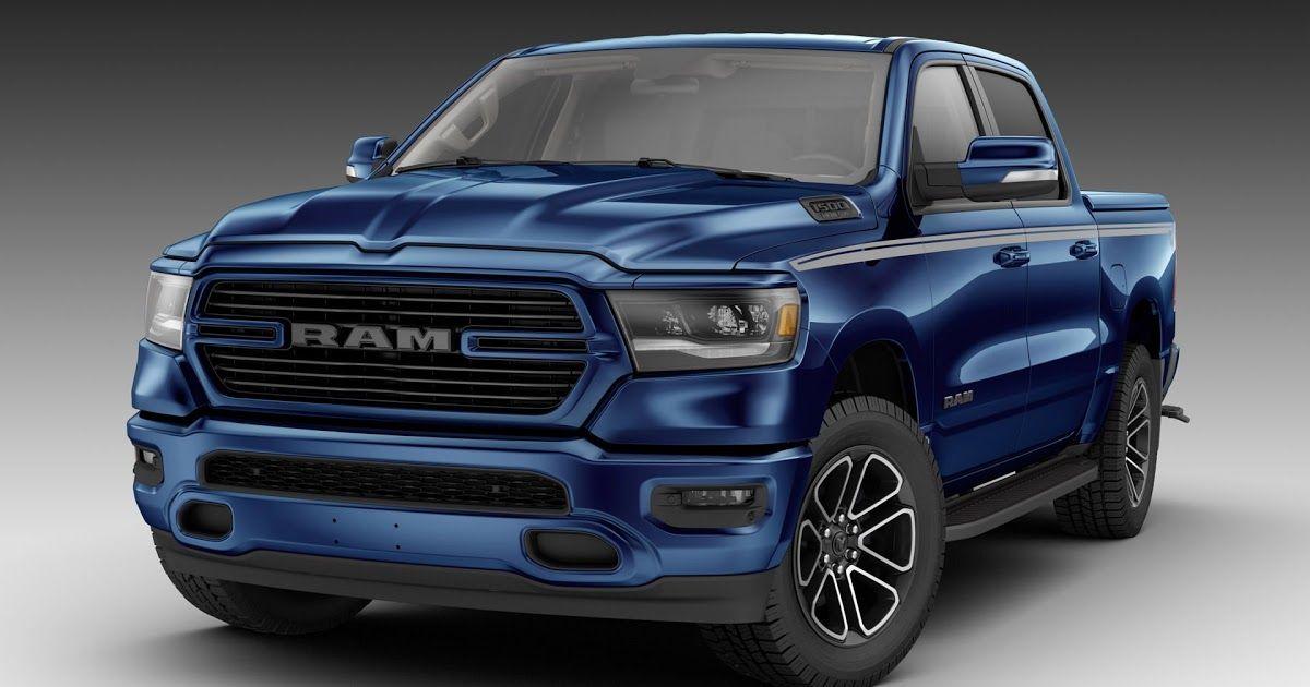 2019 Ram 1500 Looks Boss All Mopar D Out In Patriot Blue Carscoops Dodge Ram 1500 Dodge Ram Ram Cars