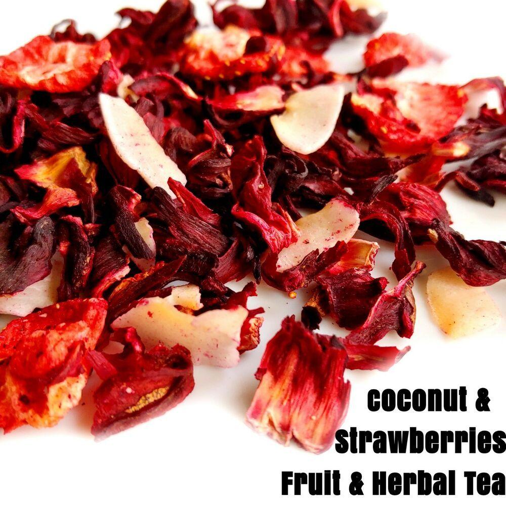 Coconut freezedried strawberries hibiscus fruit herbal