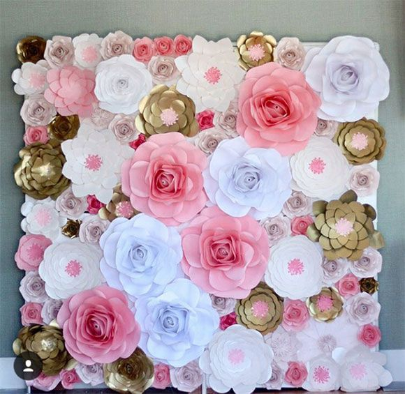 Wholesale ivory artificial paper flowers wall backdrop wedding source wholesale ivory artificial paper flowers wall backdrop wedding decorations on mibaba junglespirit Choice Image