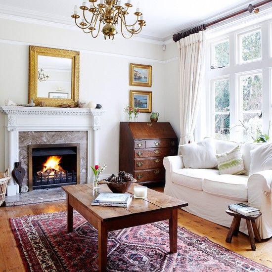 White Cozy Living Room alwinton corner sofa handmade fabric   white living rooms, living