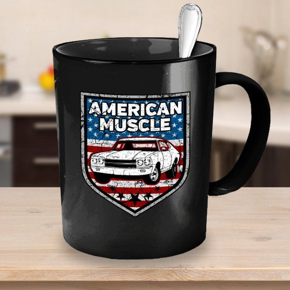 American Muscle Car Coffee Mug 11oz 15oz White Black Ceramic Cup