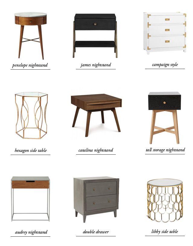 nightstand round up smitten studio home decor pinterest
