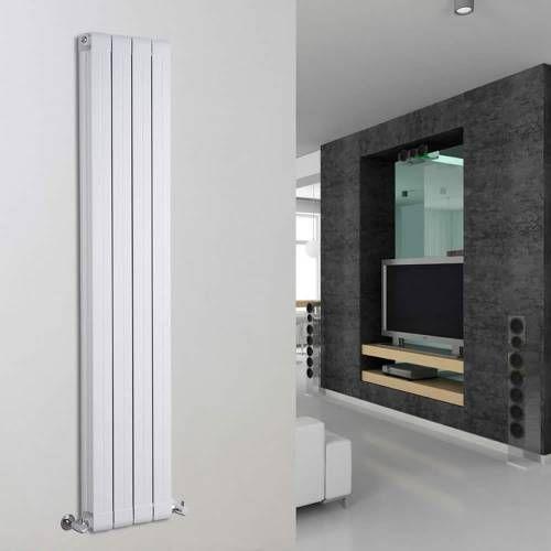 Hudson Reed Design Heizkörper Vertikal Weiß 1520 Watt 1600mm x 316mm