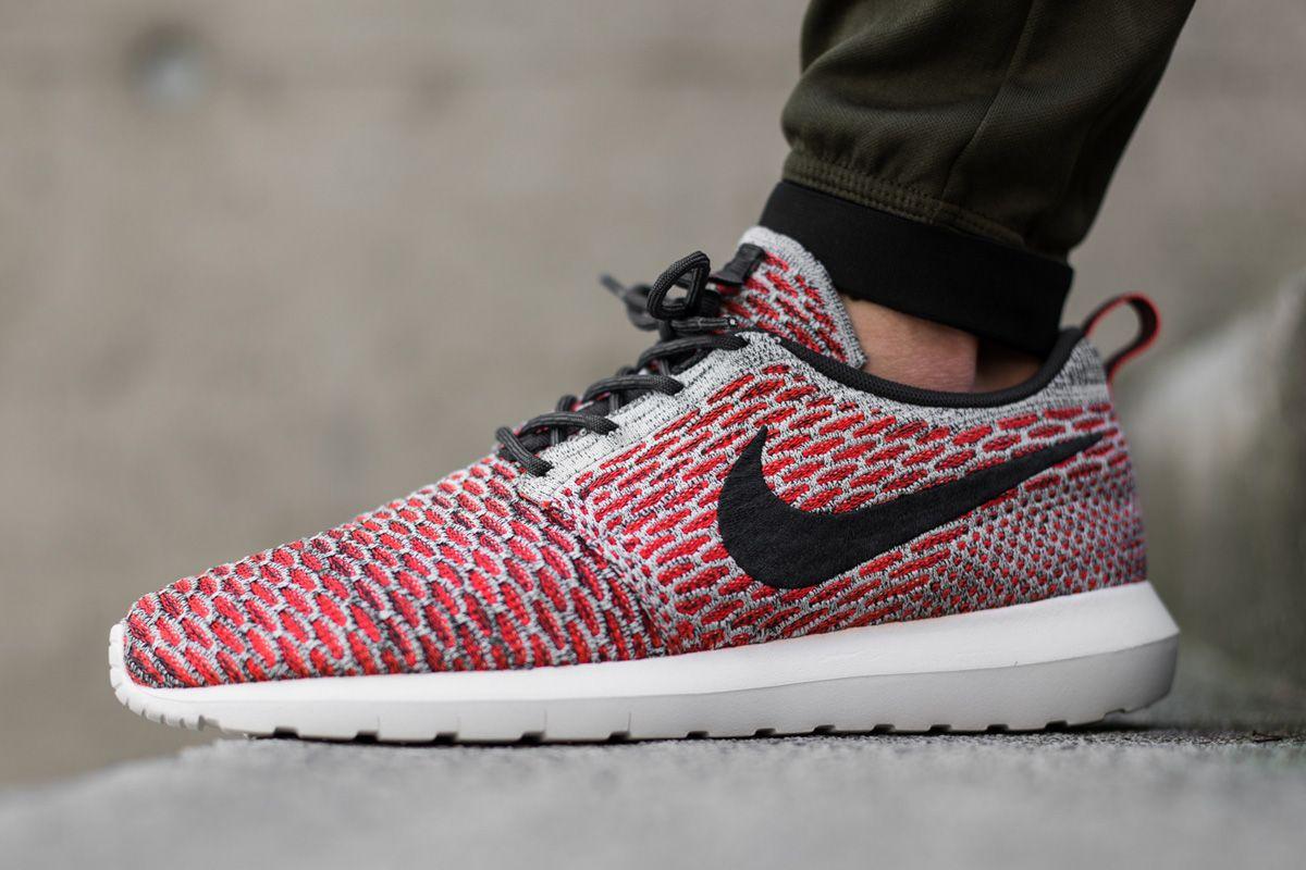Nike Roshe Courir Roshe Rouge Flyknit