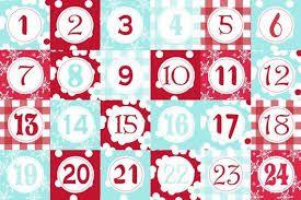 Risultati immagini per calendario avvento