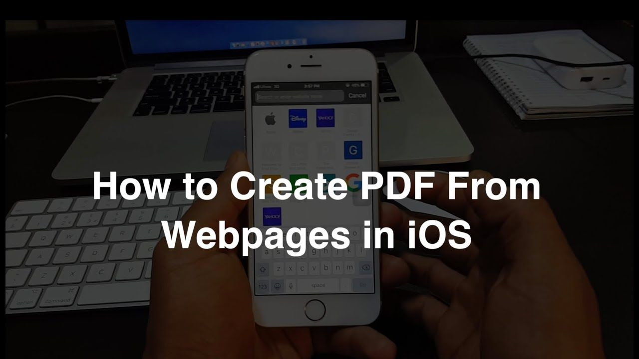 How to Create PDF from Webpage in iOS Ios, Webpage, Pdf