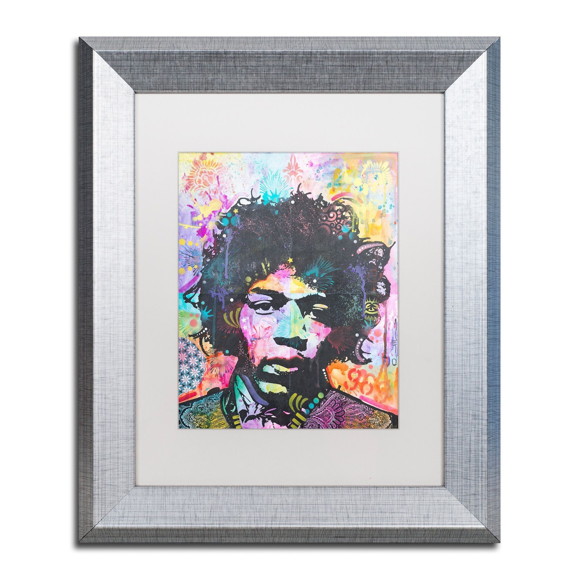 Dean Russo 'Hendrix 6 Was 9' Matted Framed Art