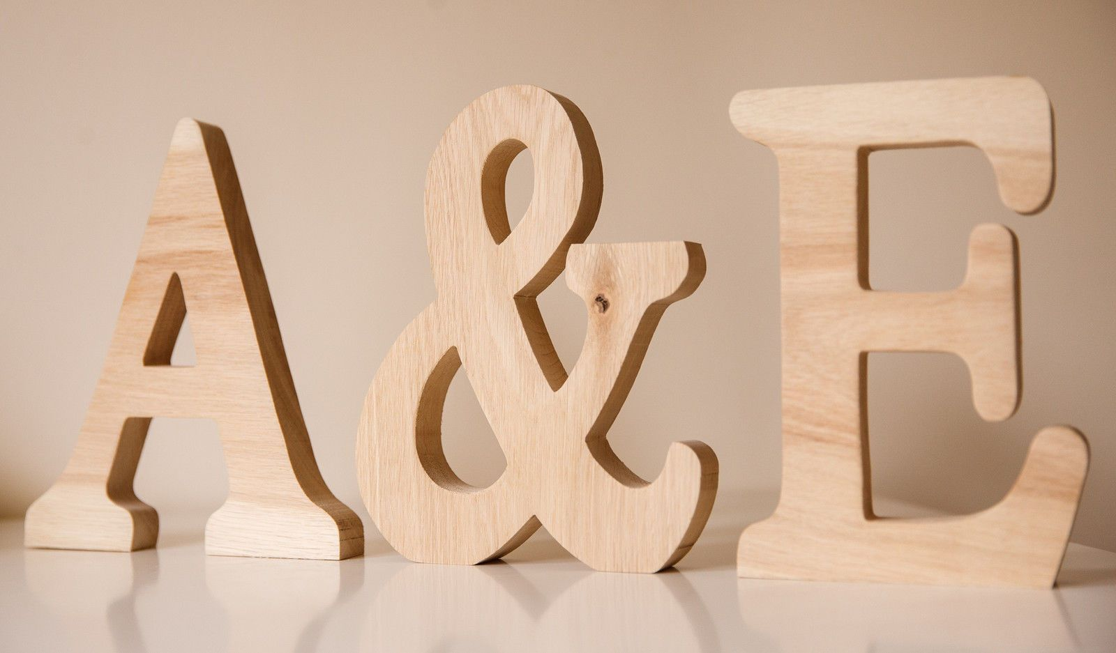 Large wooden letters   Solid oak and Weddings LARGE WOODEN LETTERS