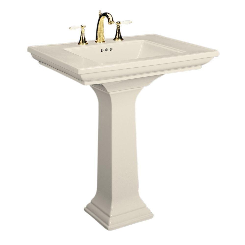 Kohler Memoirs Pedestal Combo Bathroom Sink In Almond Brown