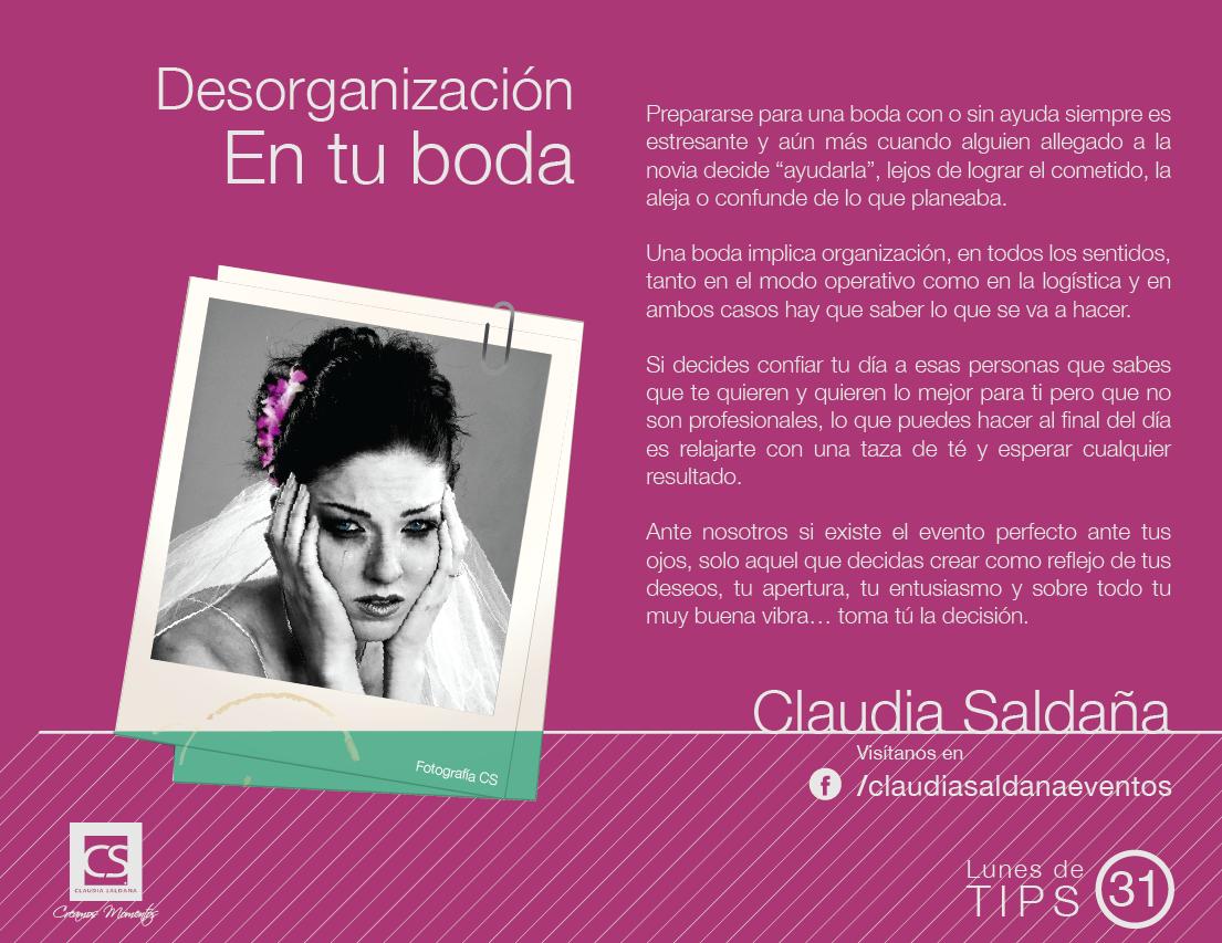 Tip de boda 31 - Desorganización en tu boda | Adviser | Pinterest ...