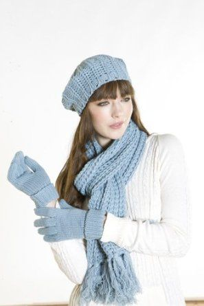 144a6cc08 New Ladies Chunky Knitted Beret Style Fashion Warm Winter Hat Scarf ...