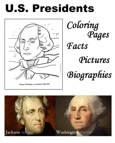 U.S. Presidents - A list of Presidents in order, chronological and numerical. US President facts, biography, pictures, names and coloring pages for each US President! #presidents