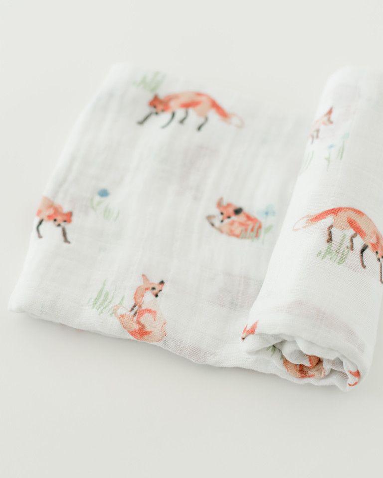 Muslin Swaddle Fox Muslin Swaddle Blanket Baby Swaddle Baby