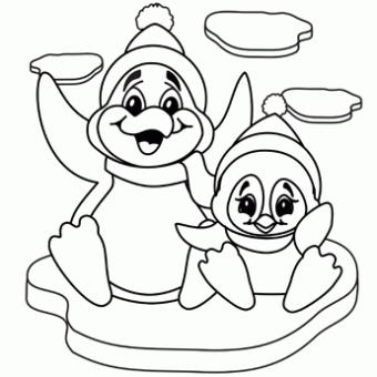 santa animal coloring pages - photo#42