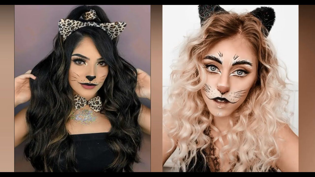Amazing And Easy Cat Makeup Look For Halloween 2019 Simple Cat Makeup Makeup Looks Cat Makeup