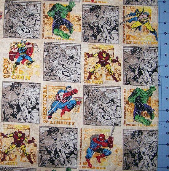 Marvel Comic Block Fabric By The Yard FBTY by CutiePieCraftSupply, $12.00