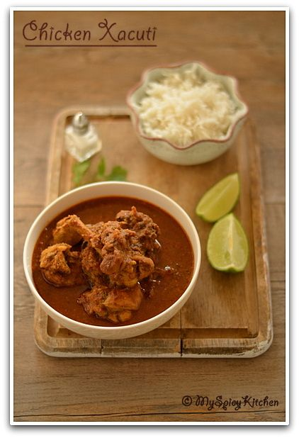 Chicken Xacuti Goan Curry Myspicykitchen Indian Cooking Goan Recipes Indian Food Recipes