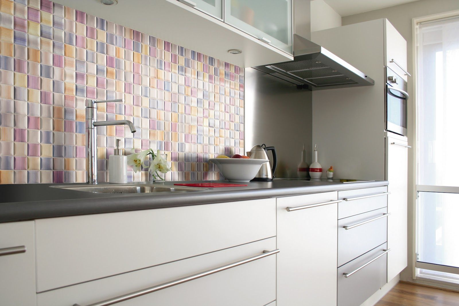 Pretty Pastel Backsplash   13 Beautiful Backsplash Ideas To Add Character  To Your Kitchen