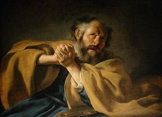 Johannes Moreelse (1602-1634): Arrepentimiento de san Pedro.