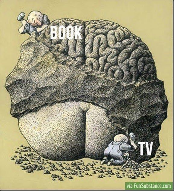Books v/s TV  Haha - I so agree!
