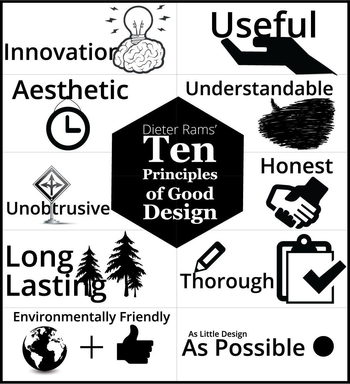 Ten principles of good design #graphic design #infographic