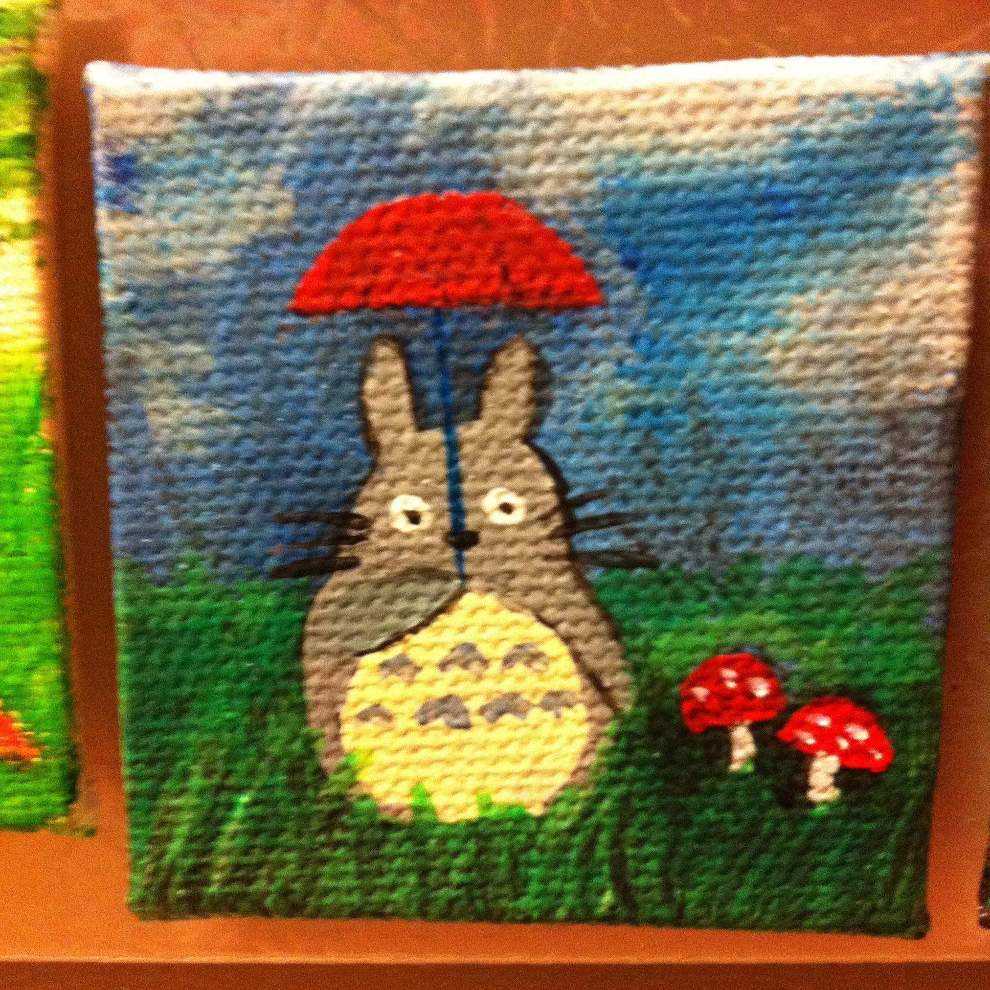 Mini Canvas Painting Totoro
