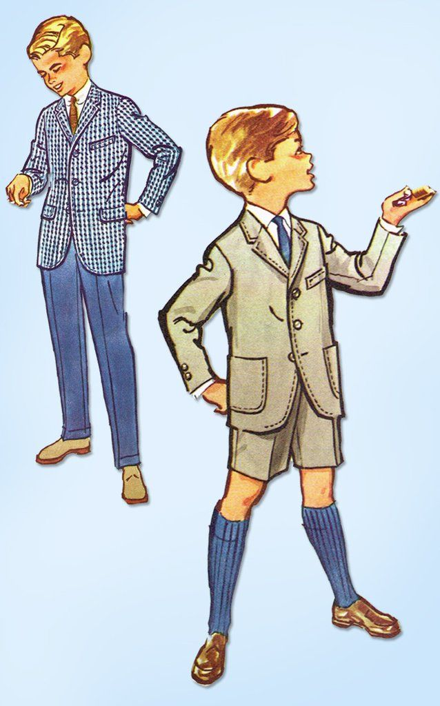 1950s Vintage McCall\'s Sewing Pattern 4814 Uncut Toddler Boys Suit ...