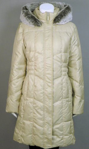 f0cb40c4c Utex Women's Quilted Down Filled - Faux Fur Trim Hooded Coat Utex ...