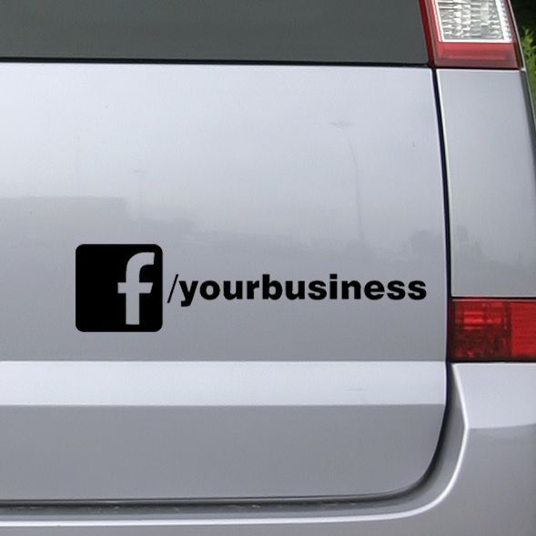 Custom facebook business company car van advert vinyl rear window decal sticker