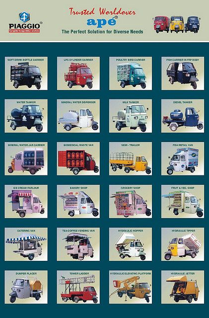 Piaggio Ape 50 Old Advert Posters
