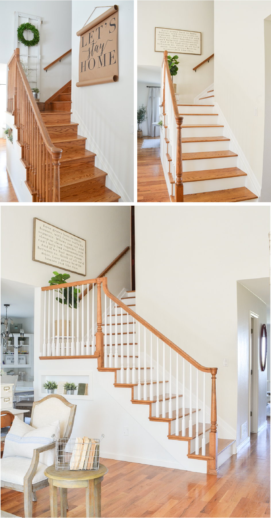 Farmhouse Style Staircase Makeover Staircase Makeover Farmhouse | Style Of Stairs Inside House | Outside India House | Spiral | Design | Mansion | Historic House