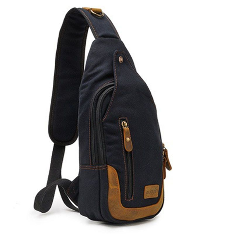 4f57cef6ad9b Casual One Strap Backpack Men Rugzakken Canvas Chest Bag Small Crossbody  Shoulder Back Pack Women Single