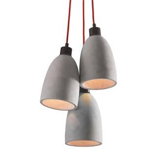 Check out the Zuo 50206 Fancy 3 Light Ceiling Pendant in Concrete Gray