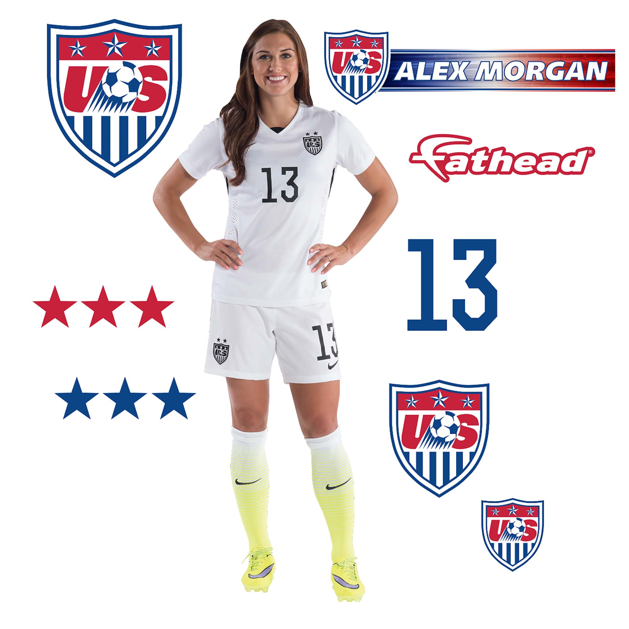 alex morgan x large officially licensed removable wall on wall logo decal id=39716