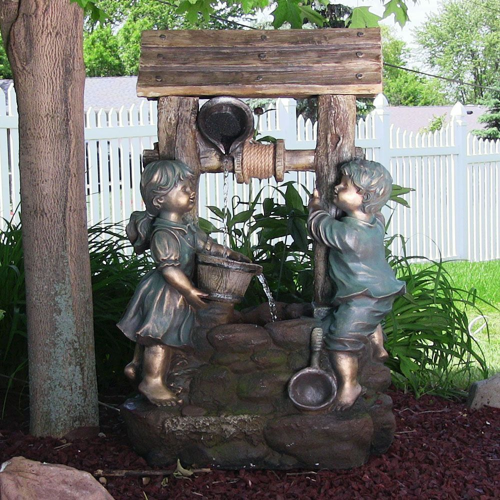 Outdoor Western Well Falls Water Fountain For Garden Decor Patio Electric  Water Feature By Jhsource On Etsy