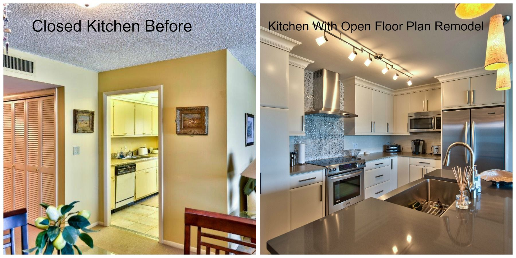 Before And After Of This Beautiful Open Concept Kitchen: Kitchen Before And After Photos