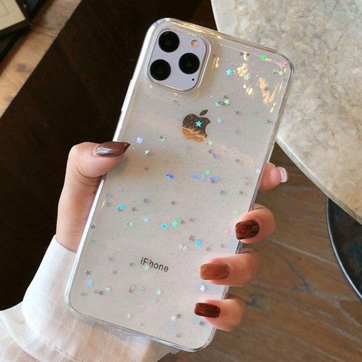 Iphone 11 Pro Clear Glitter Star Case In 2020 Pretty Iphone Cases Girly Phone Cases Trendy Phone Cases