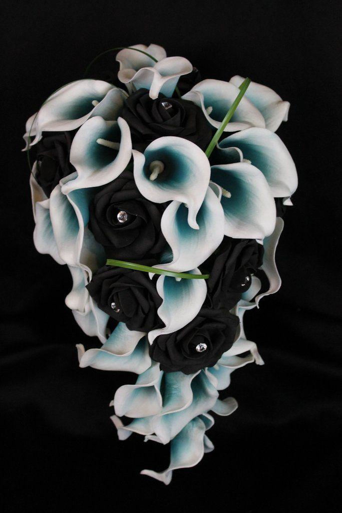 FACILLA Calla Lily Fleurs F/ête De Mariage F/ête De Mariage Maison Decortion Bouquet en Latex Toucher R/éel Fleur Bouquet Fleurs Artificielles 10 Pack